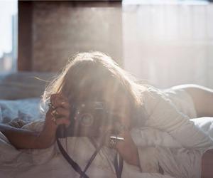 beautiful, bed, and eyelashes image