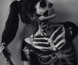 black, bones, and skeleto image