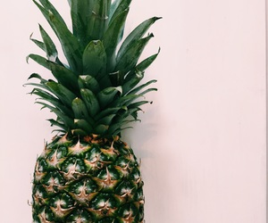 fruit, pineapple, and green image