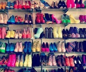 colour, heels, and shelving image