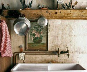 interior, kitchen, and sink image