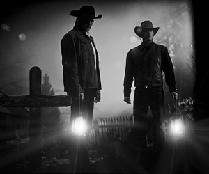 black and white, boys, and brothers image