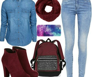 casual, denim, and galaxy image