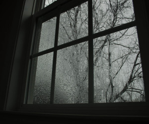 window, dark, and grunge image