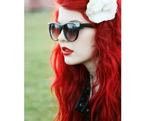 red, hair, and girl image