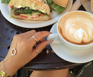 boho, carefree, and coffee image
