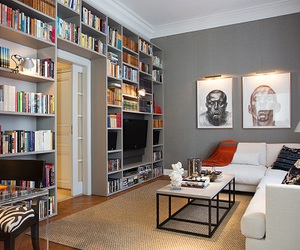 books, home sweet home, and luxury image