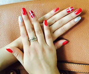 nails, red, and merrychistmas image
