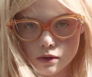Elle Fanning, blonde, and glasses image