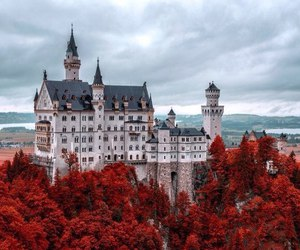 castle, red, and germany image
