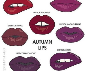 lips, lipstick, and autumn image