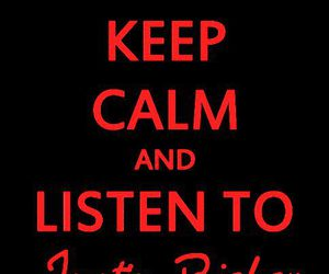 justin bieber, keep calm, and music image
