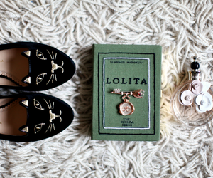 black cat, book, and fashion image