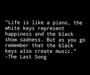 piano, quote, and sadness image