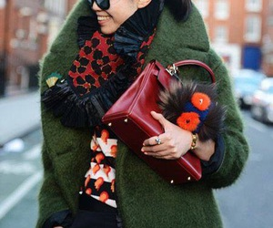 coat, colorful, and autumn look image