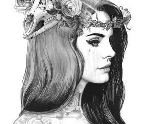 lana del rey, art, and drawing image