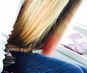 blonde, pink hair, and pretty hair image