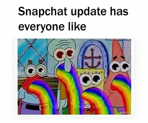 spongebob and snapchat image