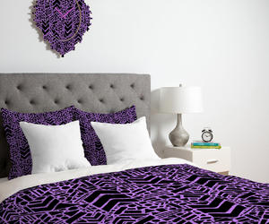 black and white, purple orchid color, and graphic pattern infinity image