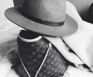 fashion, hat, and bag image