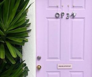 purple, door, and aesthetic image