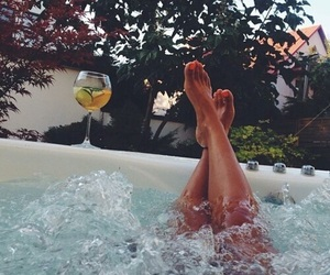 summer, drink, and luxury image