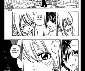 gray, Lucy, and fairytail image
