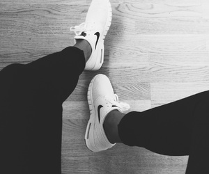 b&w, nike, and shoes image