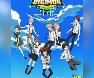 tri, waiting, and digimon image