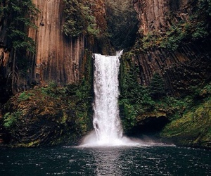 beauty, travel, and waterfall image