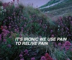 pain, grunge, and flowers image
