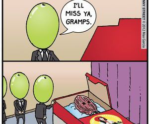 comic, funeral, and funny image