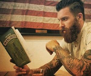 beard, Hot, and sexy image