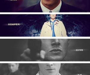 castiel, supernatural, and dean winchester image