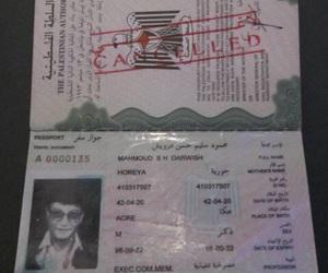محمود درويش, جواز سفر, and mahmoud drwish image