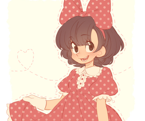 disney, minnie mouse, and anime image