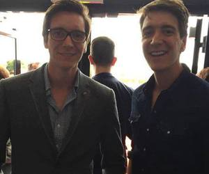 fred and george, harry potter, and james phelps image