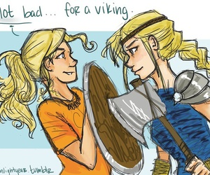 annabeth chase, astrid, and how to train your dragon image