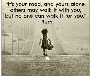 quotes, road, and alone image