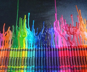 colors, crayon, and rainbow image