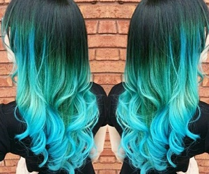 blue, ombre, and blue hair image