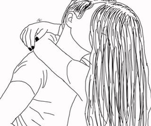 outlines, art, and couple image