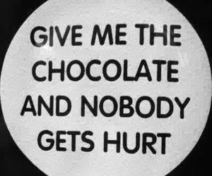 :), chocolate, and quote image