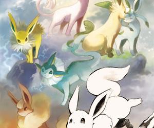 pokemon, eevee, and eeveelution image