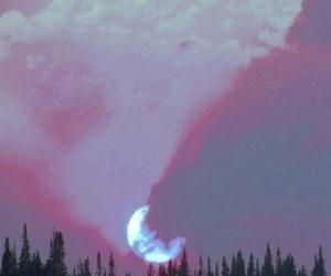 moon, grunge, and sky image