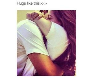 hug, love, and couple image