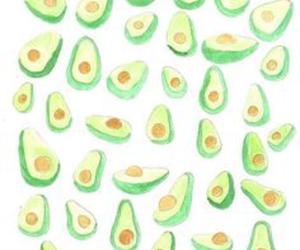 avocado, background, and vegan image