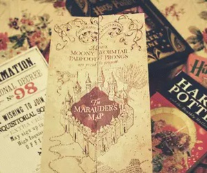 harry potter, book, and marauders image