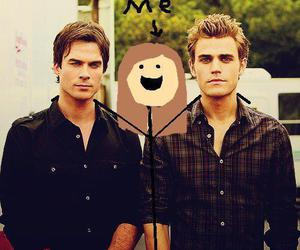 ian somerhalder, me, and paul wesley image