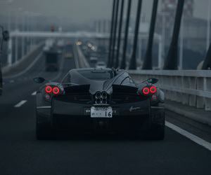 car, black, and bridge image